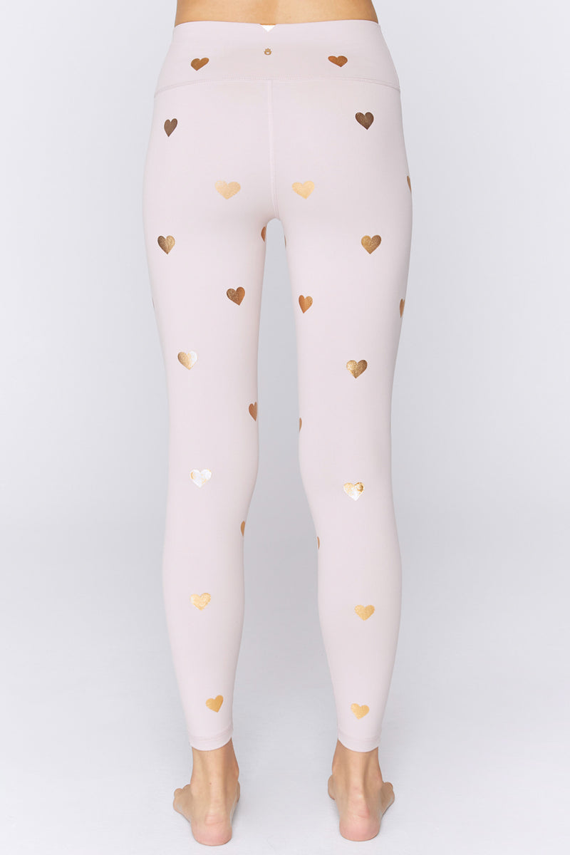 Heart Print High Waist Legging