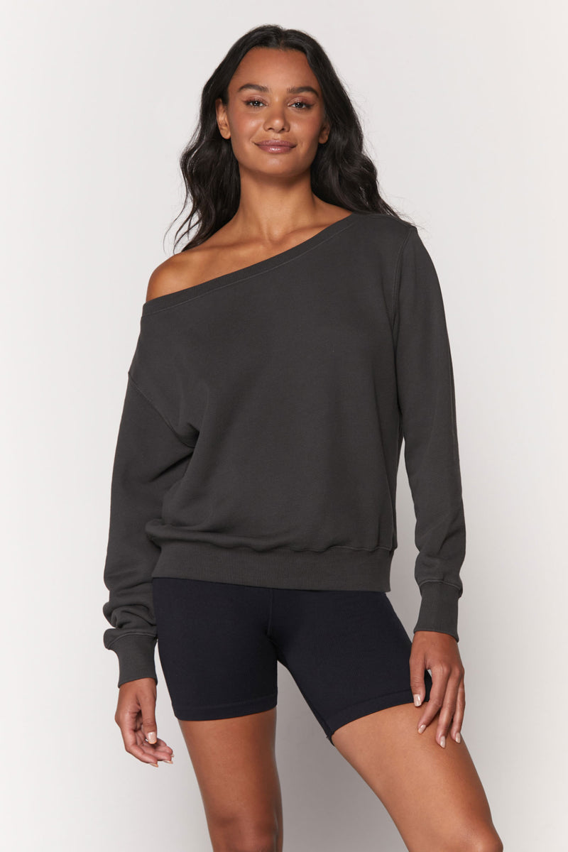 Vida Off Shoulder Sweatshirt