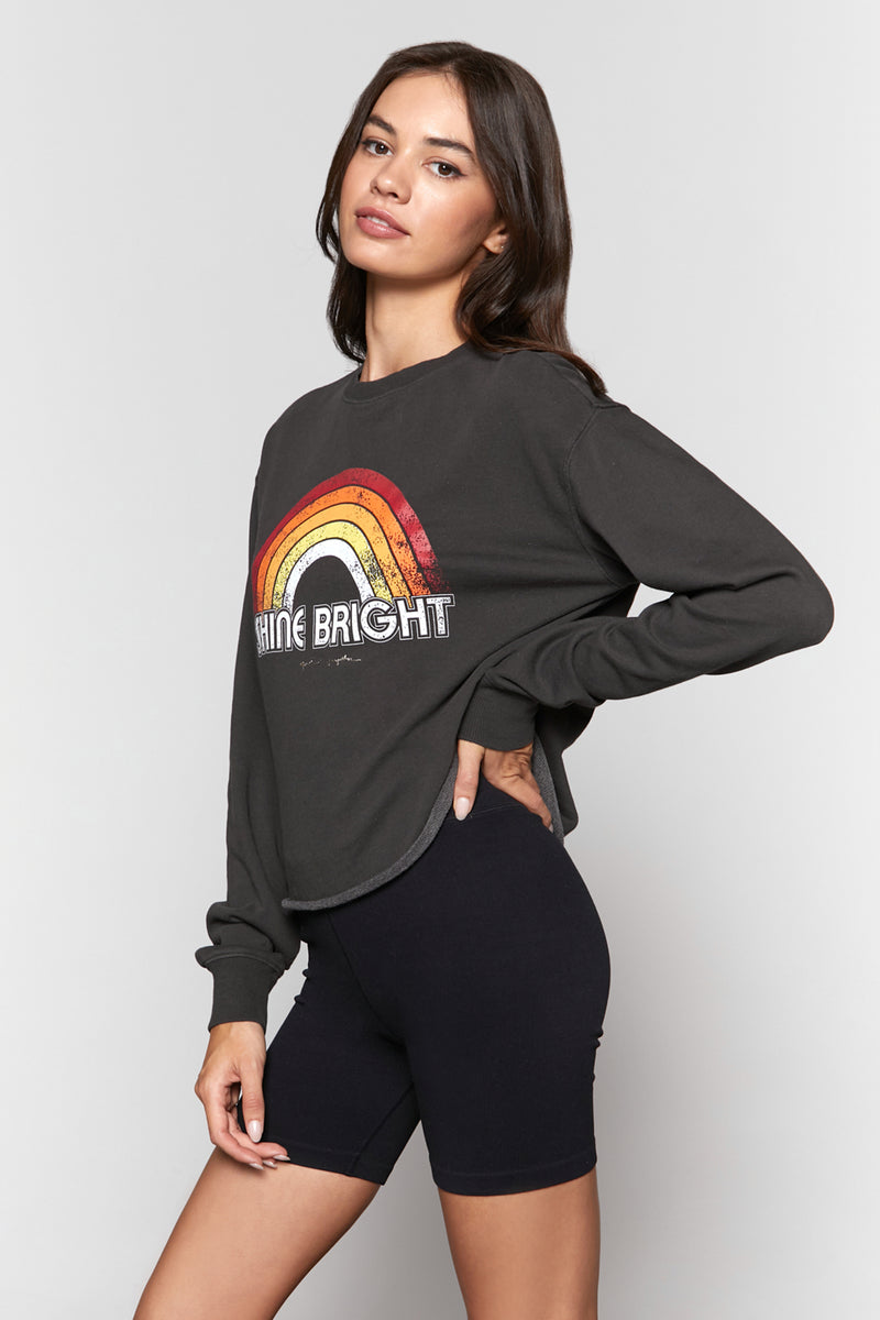 BRIGHT MAZZY CROP SWEATSHIRT