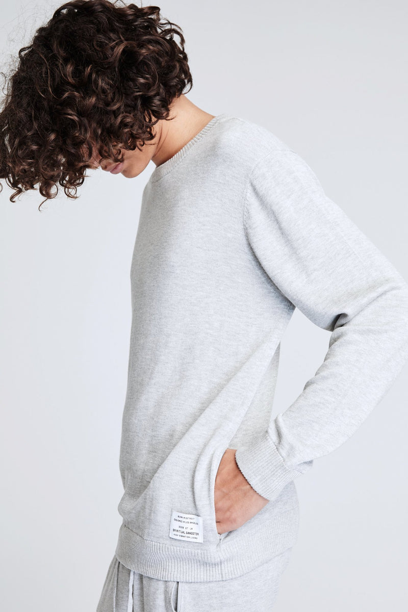 PLANES SWEATER HEATHER GREY
