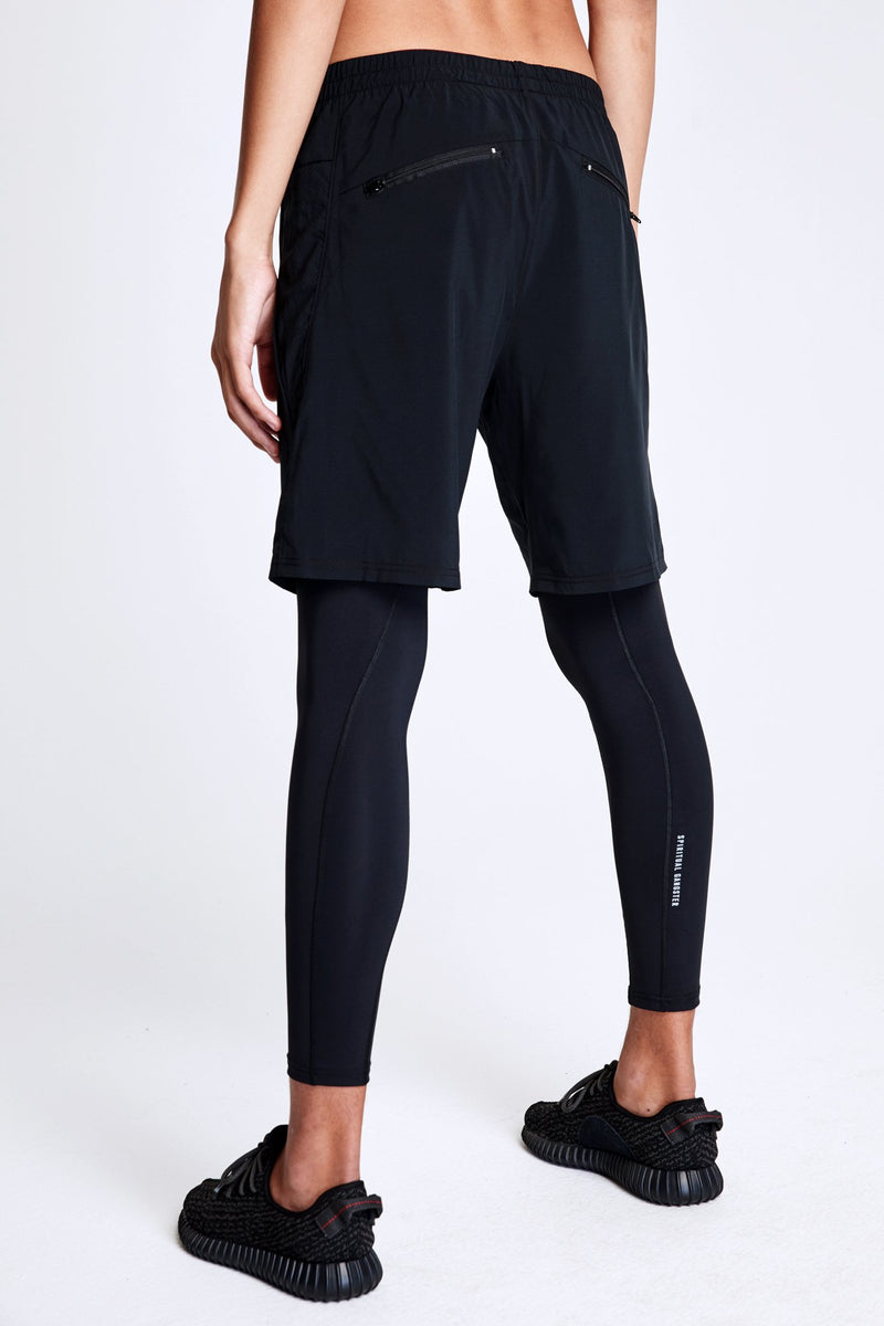 MENS LAYERED LEGGING BLACK