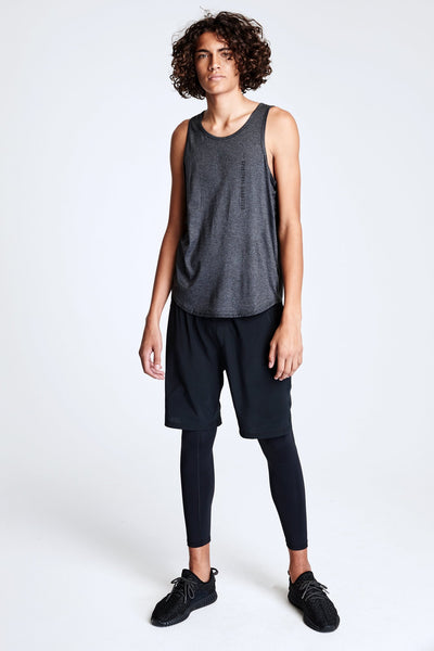 MENS LAYERED LEGGING BLACK - Spiritual Gangster