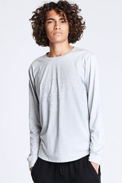 YANTRA QUICK DRY LONG SLEEVE TEE HEATHER GREY - Spiritual Gangster