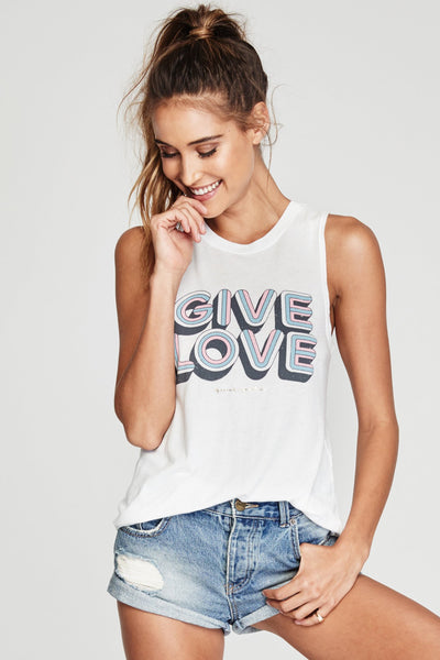 GIVE LOVE MUSCLE TANK - Spiritual Gangster