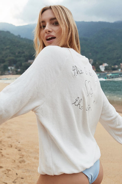 THE G IN ME EMBROIDERED CREW SWEATSHIRT - Spiritual Gangster