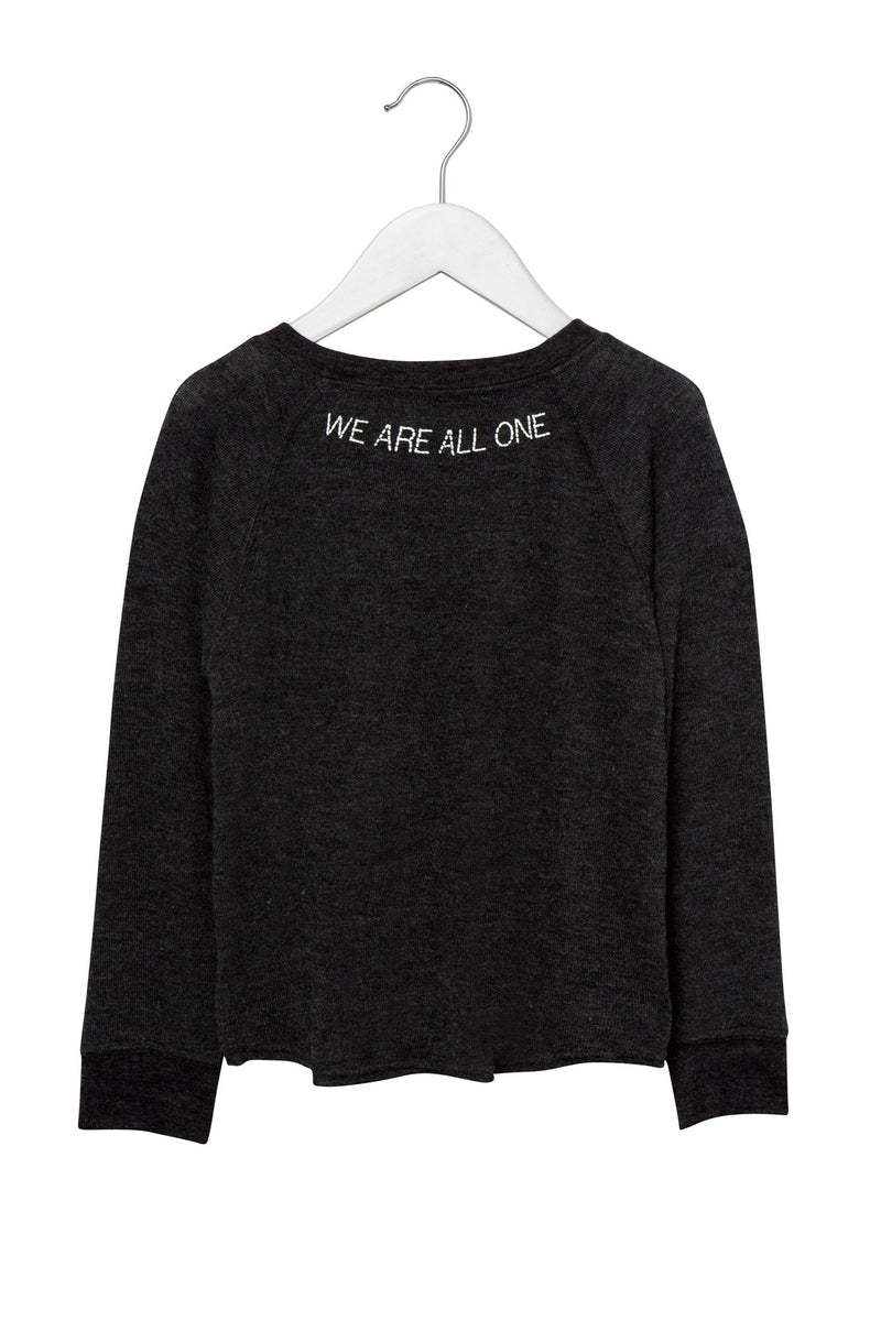 WE ARE ALL ONE TIE FRONT KIDS SWEATSHIRT