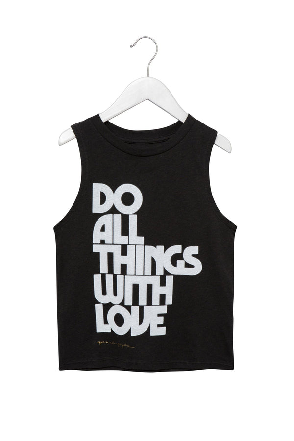 DO ALL THINGS WITH LOVE KIDS TANK - Spiritual Gangster