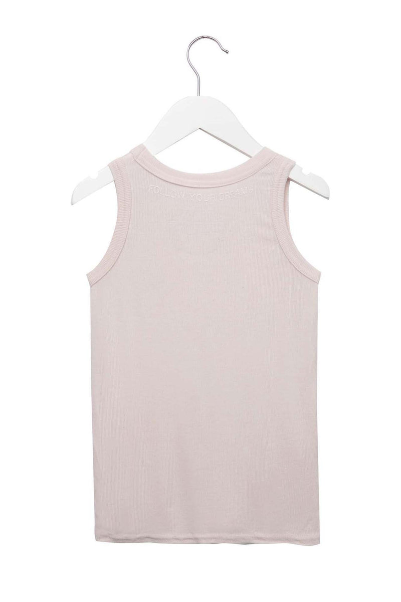 KIDS RAINBOW HEART TANK PINK SAND