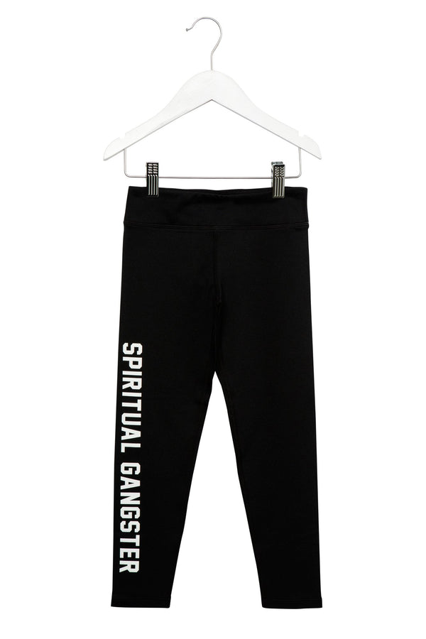 SG VARSITY GIRLS LEGGINGS BLACK - Spiritual Gangster