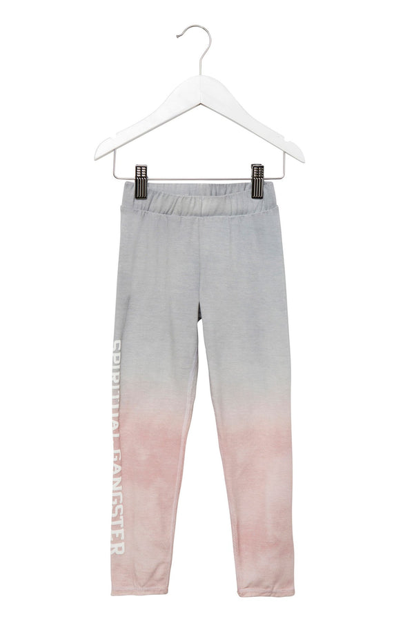 SUNSET OMBRE COTTON KIDS LEGGING SUNSET - Spiritual Gangster