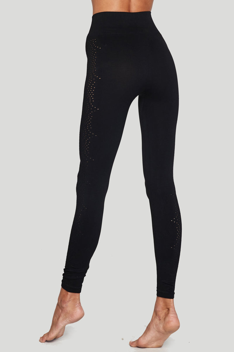 Seamless Open Mesh Legging Black