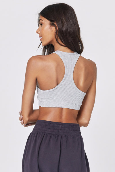 BALLET RIB BRA HEATHER GREY - Spiritual Gangster