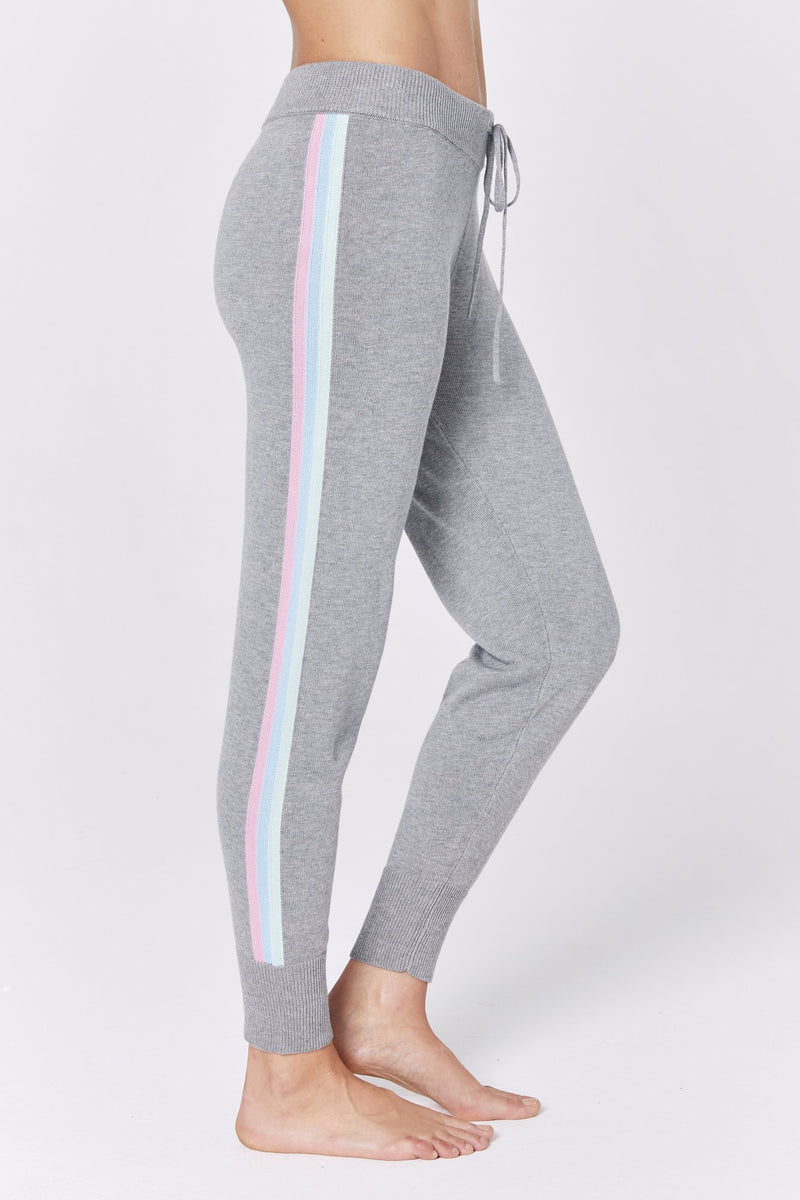 STRIPE SLIM SWEATER JOGGER
