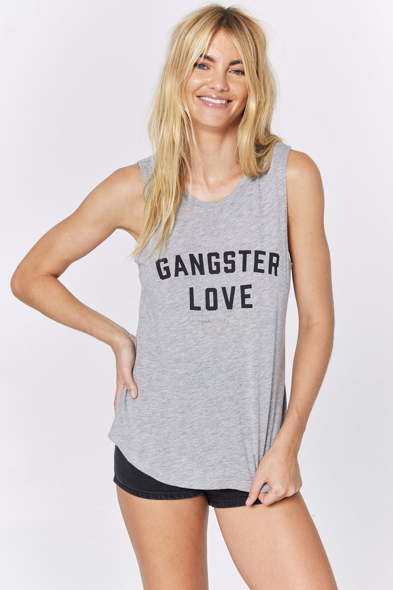 GANGSTER LOVE MUSCLE TANK