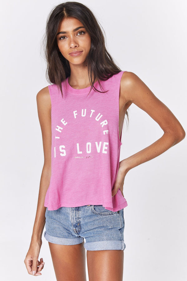 THE FUTURE IS LOVE CROP TANK