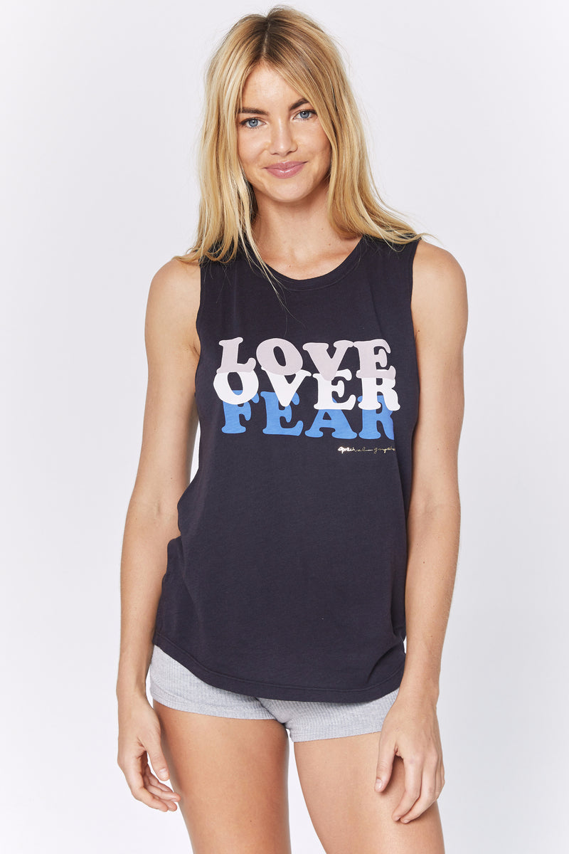 LOVE OVER FEAR MUSCLE TANK