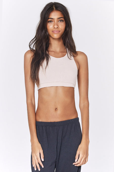 PEACE ACTIVE CROP TANK BLACK