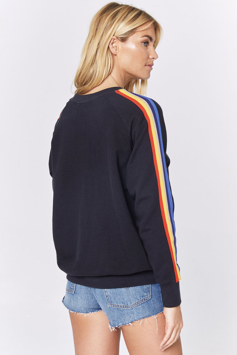 STRIPED CLASSIC CREW SWEATSHIRT