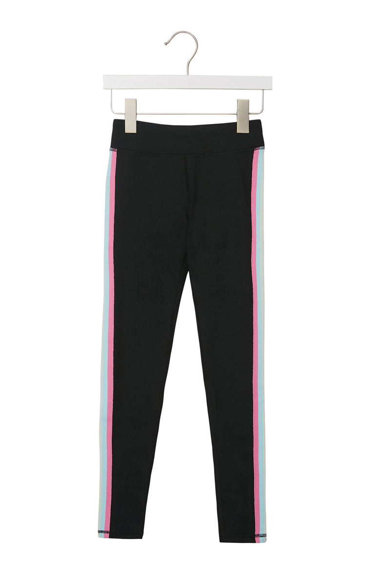 PASTEL STRIPED GIRLS ACTIVE LEGGING