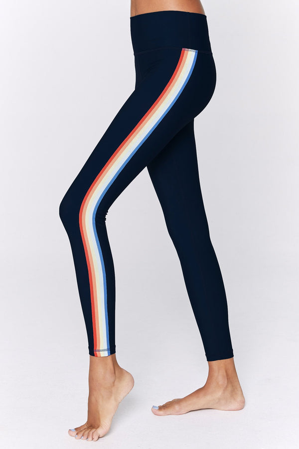 7/8 RAINBOW STRIPE ACTIVE LEGGING