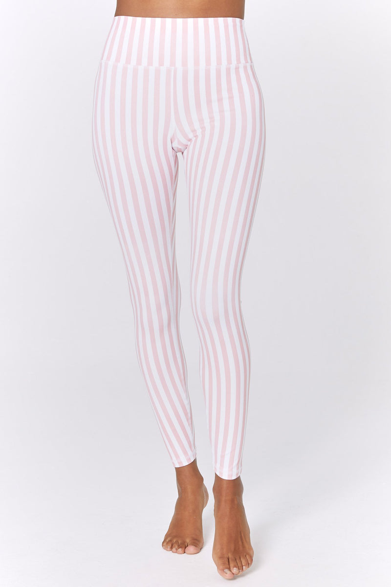 Striped High Waist 7/8 Legging