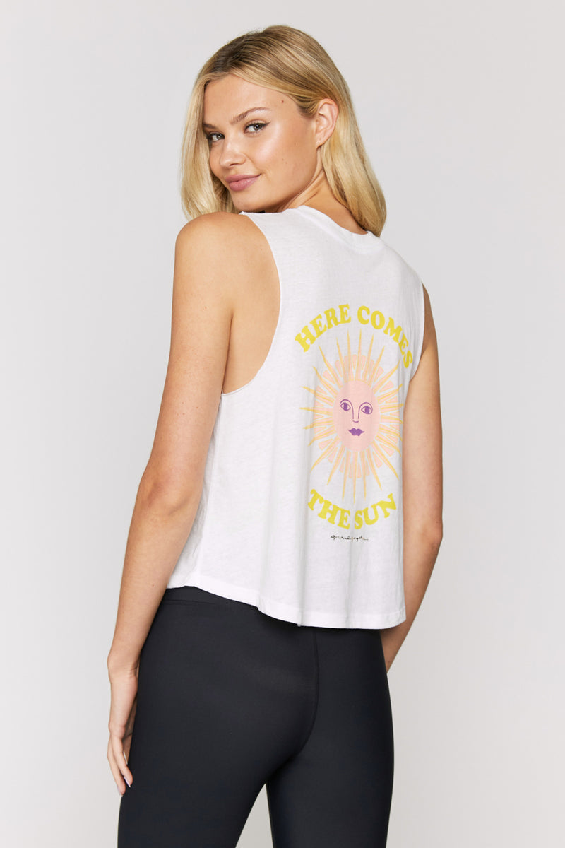 Here Comes the Sun Crop Tank