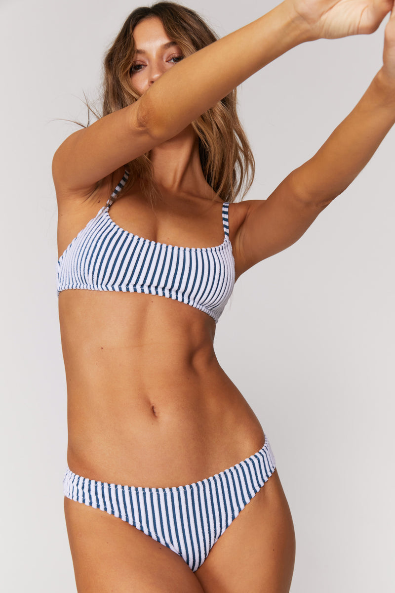 Sundara Terry Stripe Swim Top