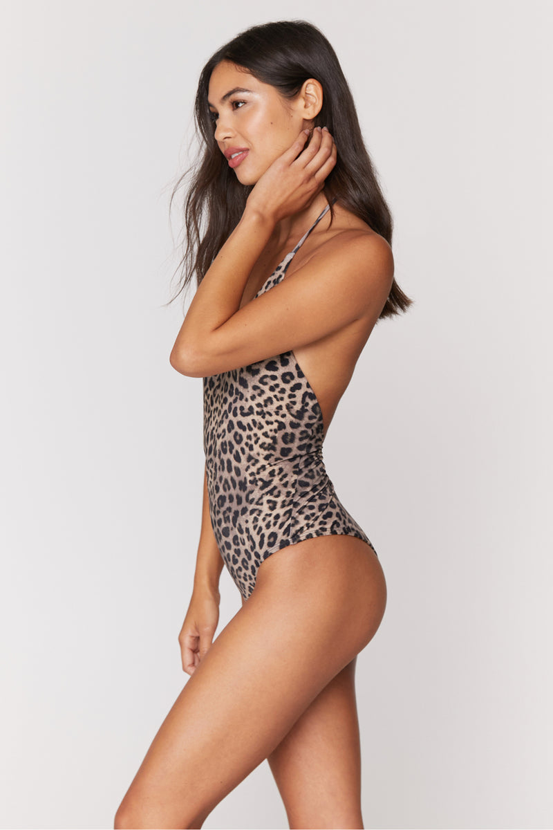 Cheetah Print Raza One Piece Swim