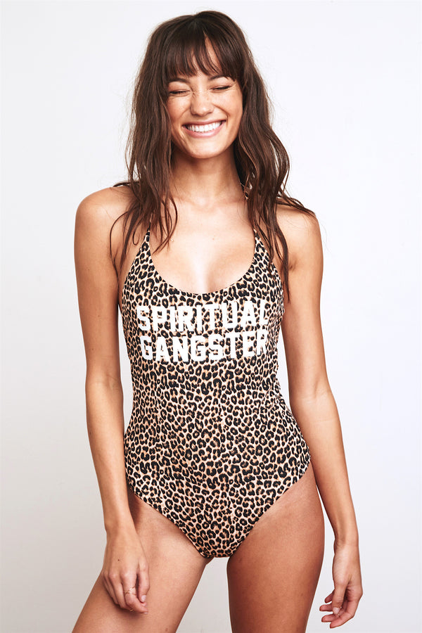 LEOPARD SG RETREAT ONE PIECE - Spiritual Gangster