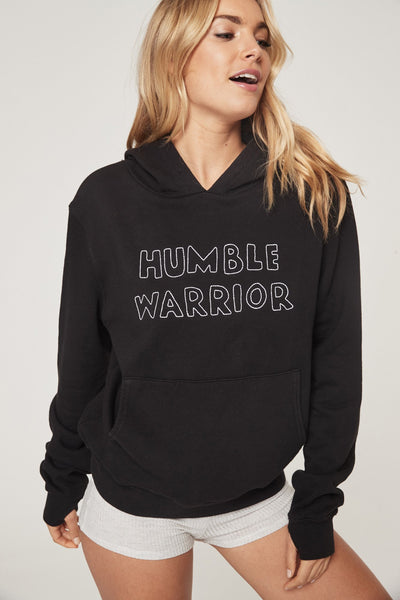 HUMBLE WARRIOR EMBROIDERED SUNDOWN HOODIE - Spiritual Gangster