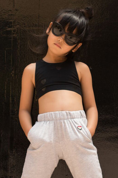 SHINY HEARTS KIDS ACTIVE BRALETTE - Spiritual Gangster