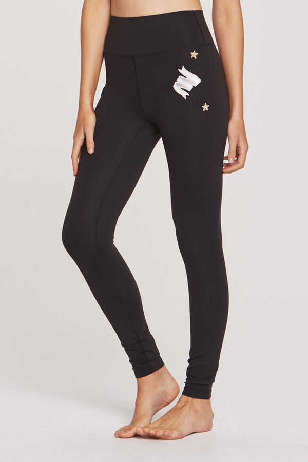 PATCH PARTY HIGH WAISTED 7/8 LEGGING BLACK - Spiritual Gangster