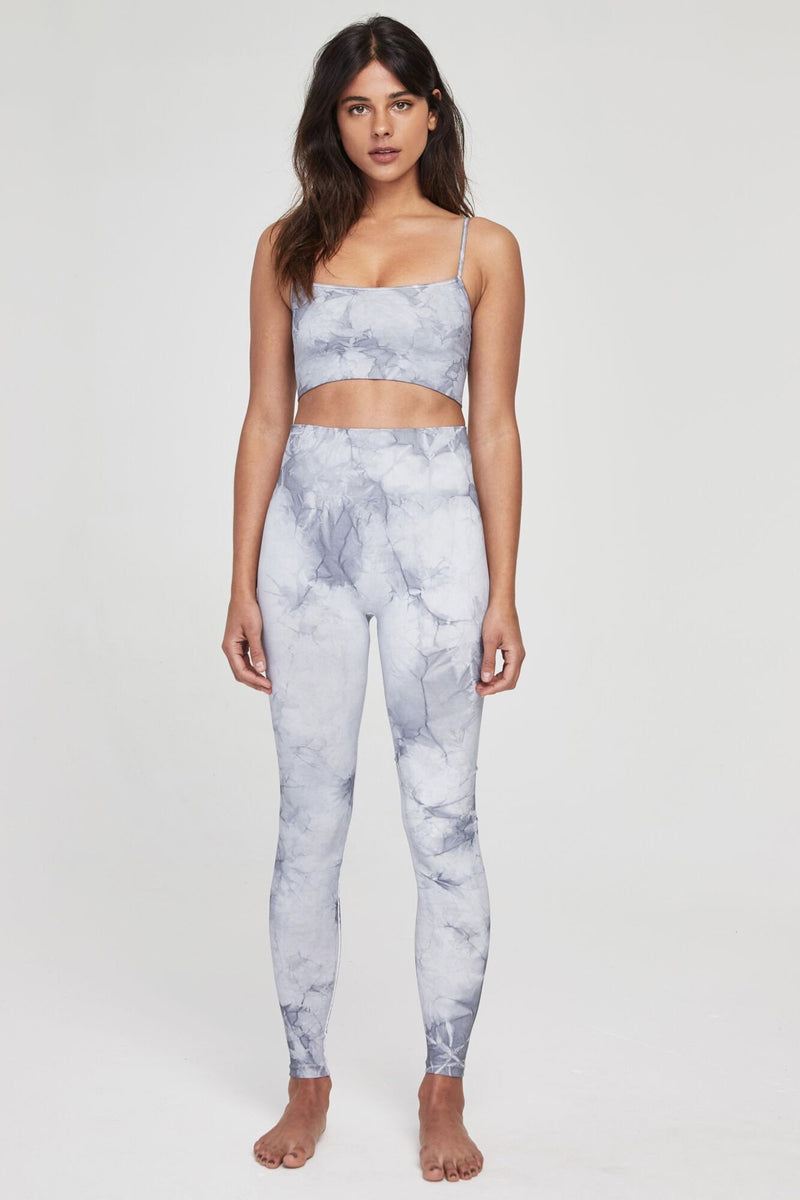 Seamless Active Legging Grey Tie Dye