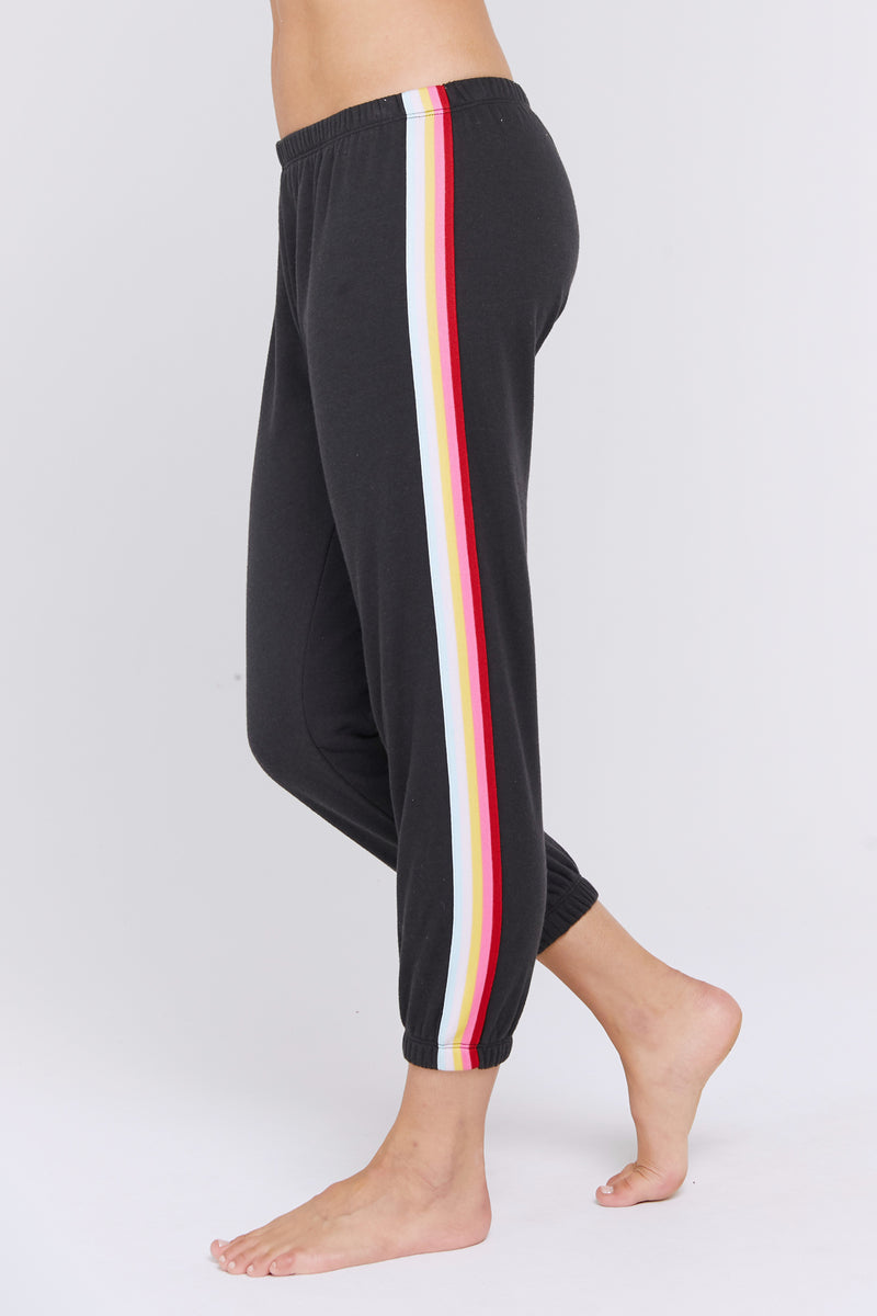 RAINBOW STRIPED PERFECT SWEATPANT
