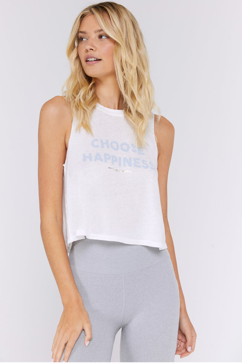 Choose Happiness Crop Tank
