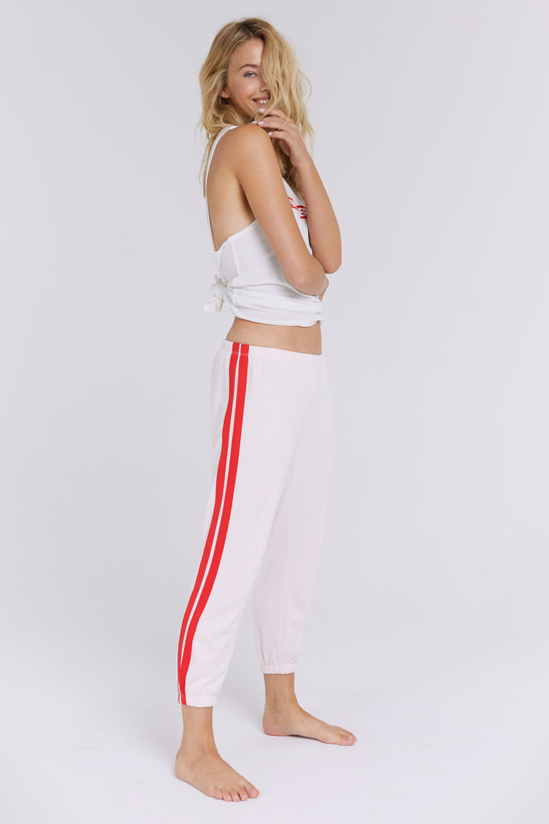PERFECT STRIPED SWEATPANT