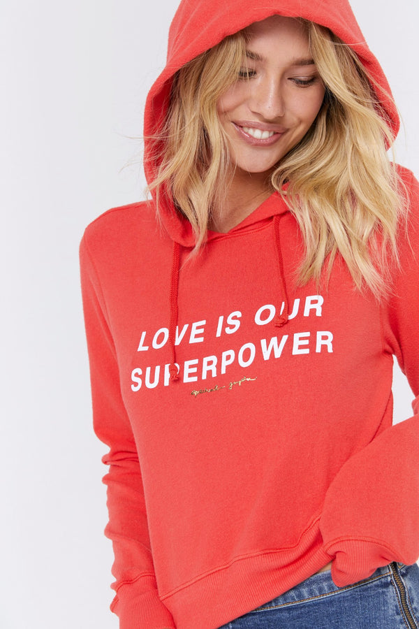 LOVE IS OUR SUPERPOWER HACCI HOODIE