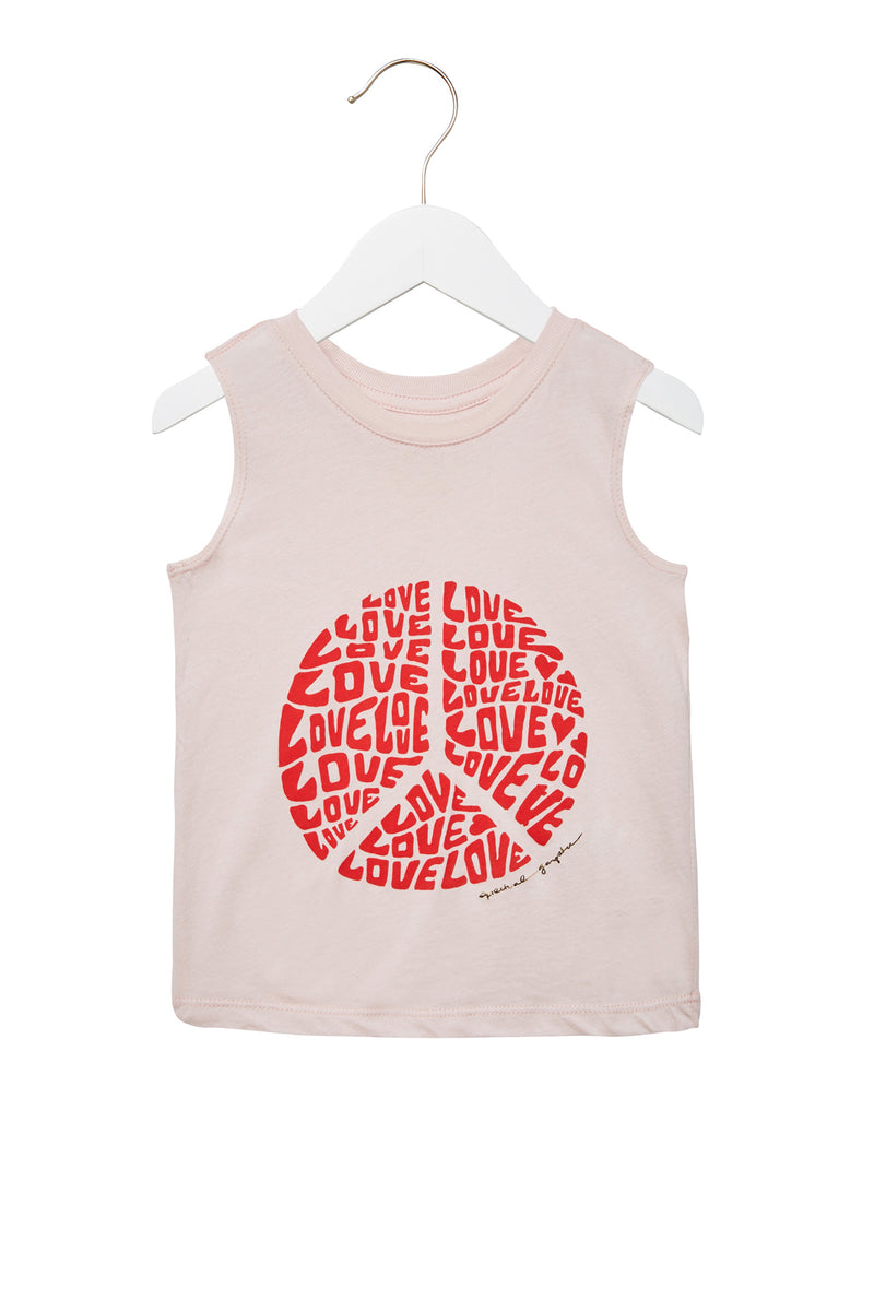 LOVE PEACE GIRLS MUSCLE TANK