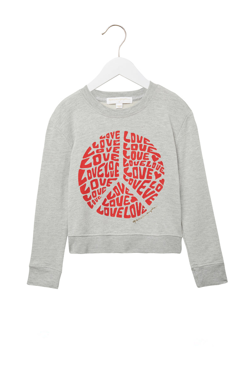 LOVE PEACE KIDS SWEATSHIRT