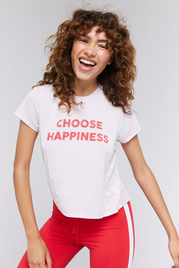 CHOOSE HAPPINESS ACTIVE CROP TEE