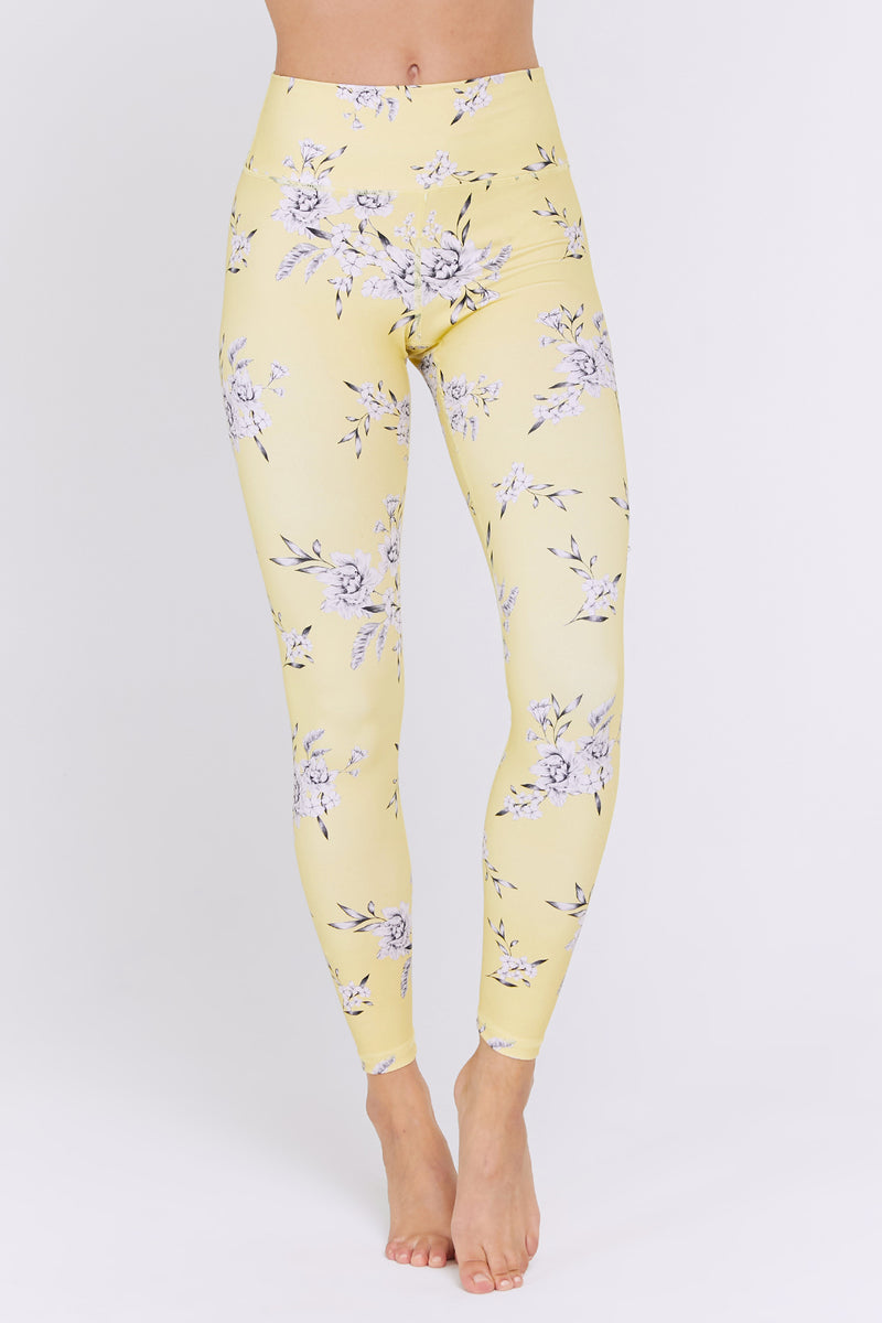 FLORAL HIGH WAIST 7/8 LEGGING