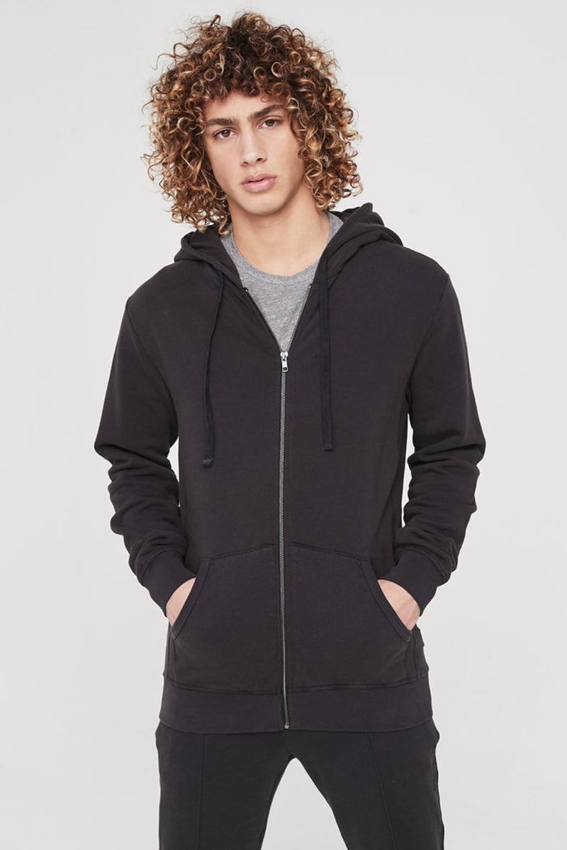 VISIONARY HEAVYWEIGHT ZIP HOODIE VINTAGE BLACK