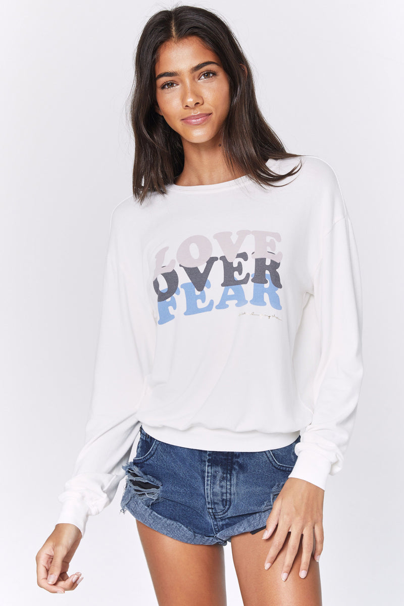 LOVE OVER FEAR SAVASANA PULLOVER