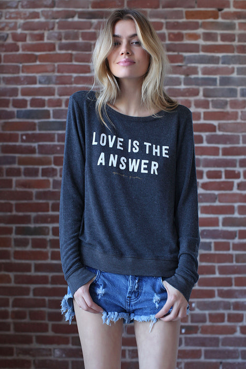 LOVE IS ANSWER PULLOVER MIDNIGHT BLUE - Spiritual Gangster