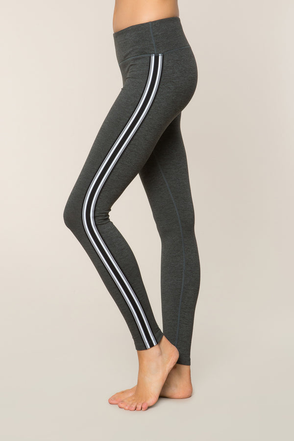 ATHLETIC STRIPE PRACTICE LEGGING ARMY - Spiritual Gangster