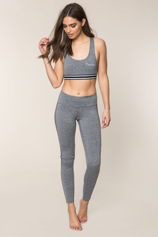 ATHLETIC STRIPE PRACTICE LEGGING GREY - Spiritual Gangster