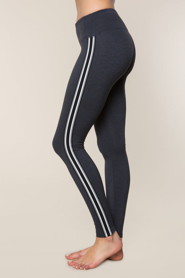 ATHLETIC STRIPE PRACTICE LEGGING NAVY - Spiritual Gangster