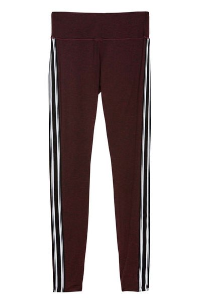 ATHLETIC STRIPE PRACTICE LEGGING DARK RED - Spiritual Gangster