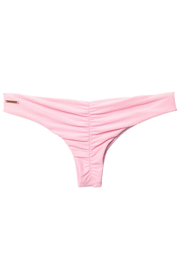 BEACH BUM RIBBED BIKINI BOTTOM WILD ROSE - Spiritual Gangster