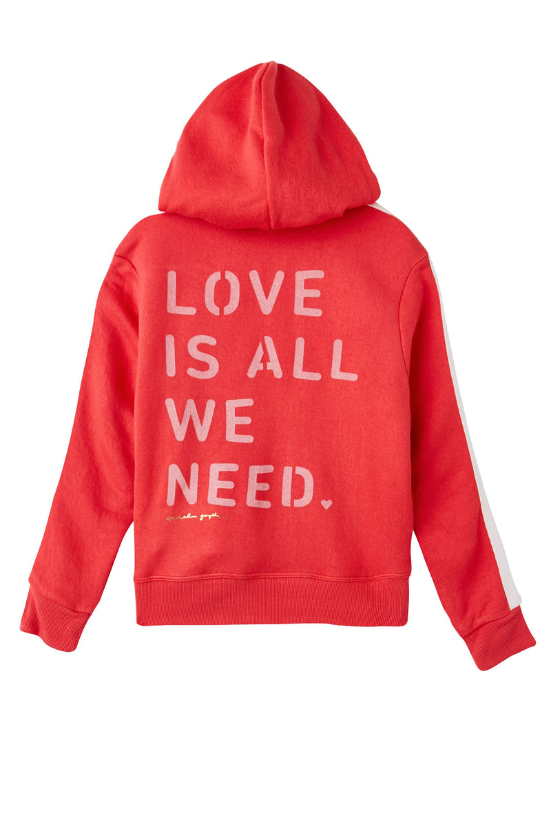 LOVE IS ALL WE NEED KIDS HOODIE